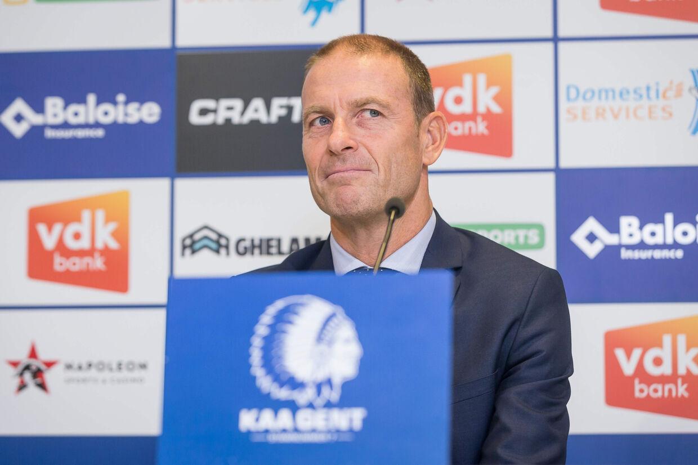 Jess Thorup blev onsdag præsenteret som ny træner i Gent. Den belgiske klub er under lup i en sag om matchfixing. James Arthur Gekiere/Ritzau Scanpix