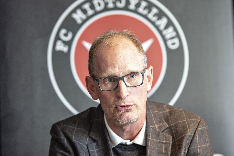 Svend Graversen var onsdag med til at præsentere FC Midtjyllands nye cheftræner. Henning Bagger/Ritzau Scanpix