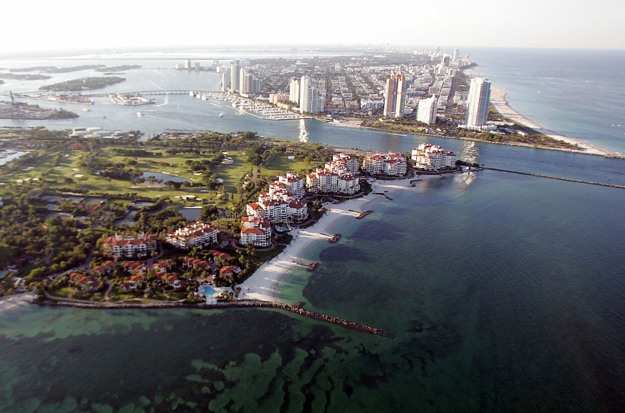 Fisher Island set oppefra