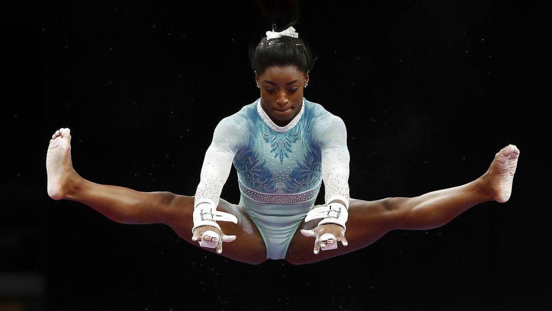 Simone Biles under de amerikanske mesterskaber i august.