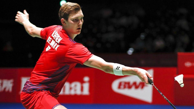 Viktor Axelsen under Japan Open.