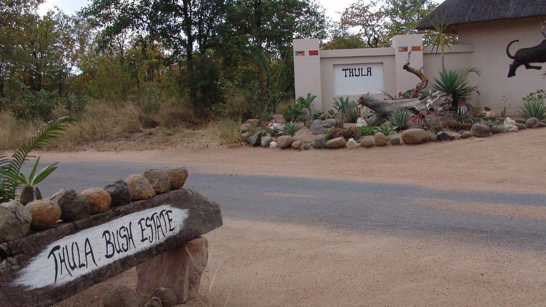 Indgangen til det over 40 hektar store Thula Bush Estate, hvor Britta Nielsens søn har købt sig ind. Privatfoto