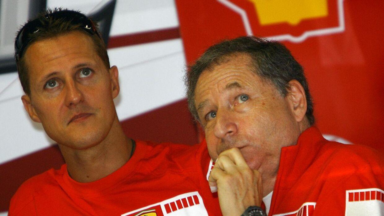 Michael Schumacher og Jean Todt tilbragte flere år sammen som farlig duo i Formel 1.