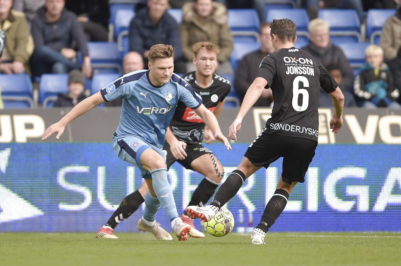 Sønderjyskes Eggert Jonsson (6). Superliga-kampen Randers FC og SønderjyskE på Bionutria Park i Randers. (Foto: Henning Bagger/Scanpix 2018)