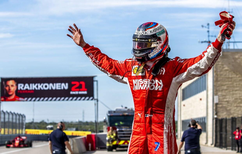 Kimi Raikkonen vandt løbet.