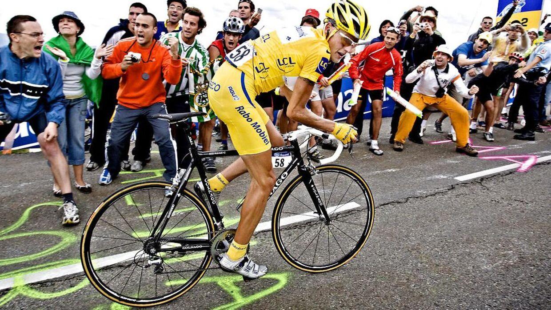 Michael Rasmussen var iført den gule trøje, da han i 2007 blev flået ud af Tour de France.