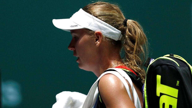 Caroline Wozniackis sæson er færdig for i år.