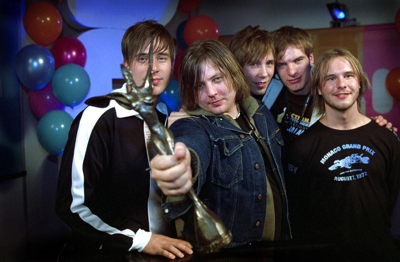 Sådan så Søren Huss og resten af Saybia ud, da de vandt i 2002.