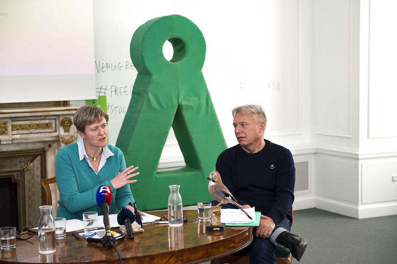 Josephine Fock og Uffe Elbæk stiftede Alternativet sammen.