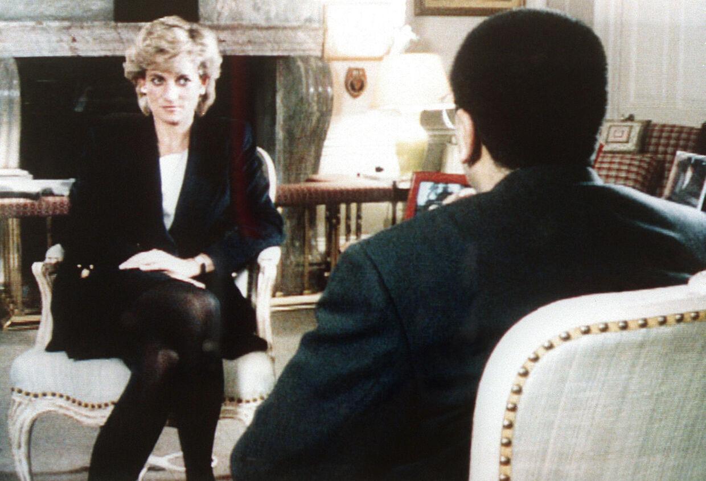 Dianas fotograferet under interviewet med BBC's Martin Bashir.
