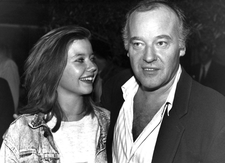 Den danske skuespiller Torben Jensen med sin datter, Anja.