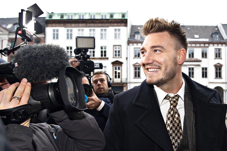 Nicklas Bendtner skal møde i Københavns Byret som sigtet i en voldssag. Fredag 2.november 2018