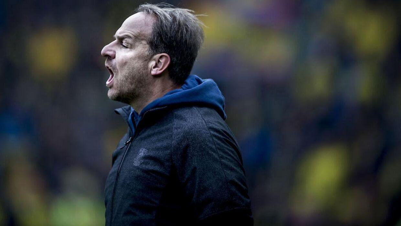 Brøndbys cheftræner Alexander Zorniger under superligakampen mellem Brøndby-FCK på Brøndby Stadion søndag den 4 november 2018.