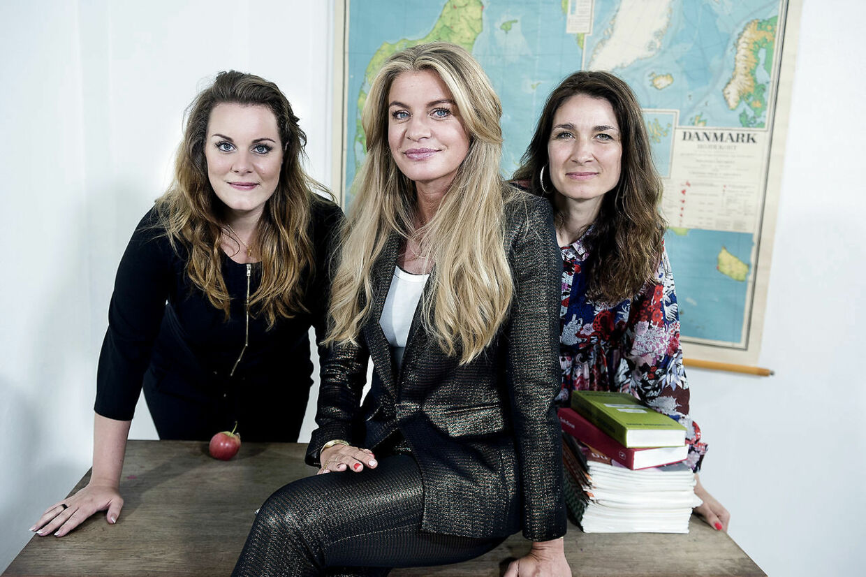 Lise Baastrup med sine 'Rita'-kollegaer Mille Dinesen og Charlotte Munck.