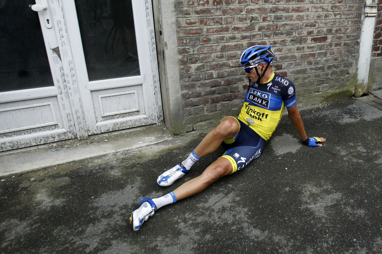 Jonathan Cantwell kørte i 2012 Tour de France for Bjarne Riis' Team Saxo Bank. Bogdan Cristel/Reuters
