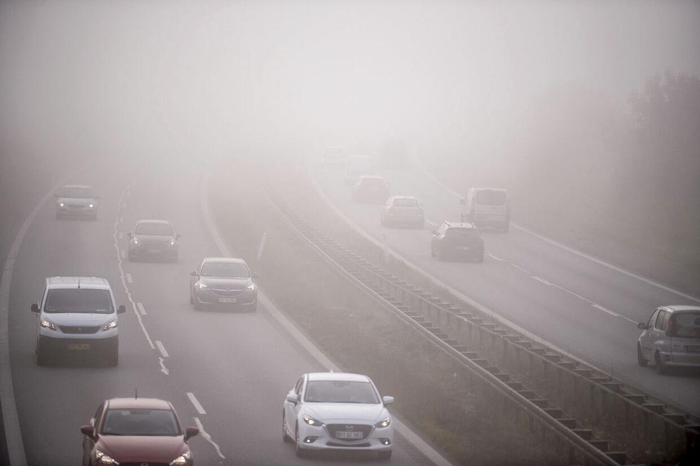 Tæt morgen tåge nær Lejre ved Roskilde, onsdag den 17. oktober 2018.