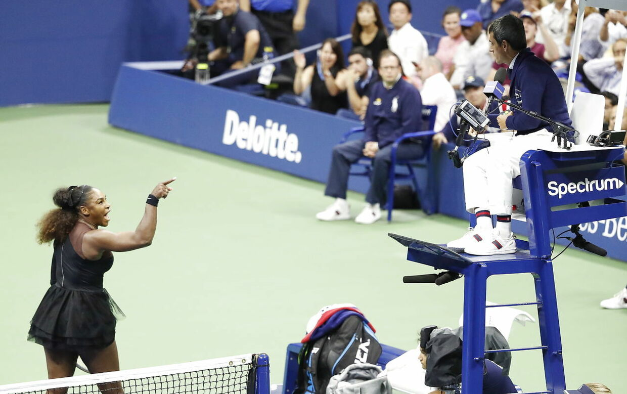Serena Williams under årets US Open-finale.