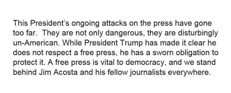 CNN reagerer på angreb fra Trump.
