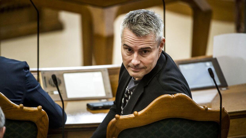 Henrik Sass Larsen (S) under folketingets åbningsdebat i folketingssalen på Christiansborg, torsdag den 4. oktober 2018.