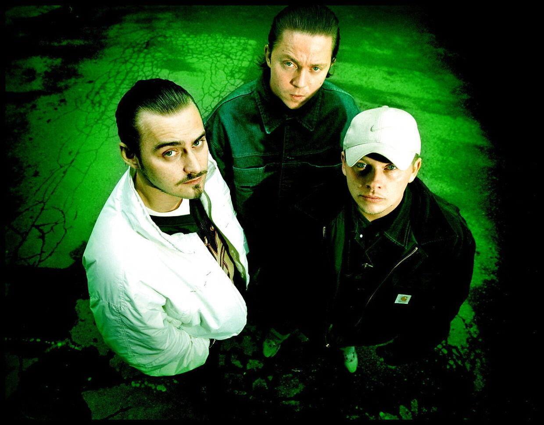 Den Gale Pose som de så ud i 90'erne. Jesper 'Jokeren', Rasmus Berg og Nick Coldhands.