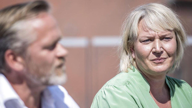 Partiformand Anders Samuelsen og Christina Egelund under Liberal Alliance' pressemøde i sommer.
