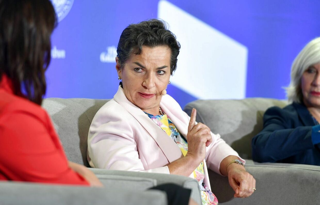 Vice Chair of the Global Covenant of Mayors for Climate & Energy and Convenor of Mission 2020 Christiana Figueres speaks during the C40 Cities For Climate The Future Is Us kickoff event at San Francisco's City Hall in San Francisco, California on September 12, 2018. (Photo by JOSH EDELSON / AFP)