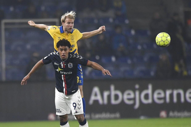 Superliga fodbold Brøndby-AGF på Brøndby Stadion den 9. november 2018. Foto Lars Møller / Ritzau Scanpix