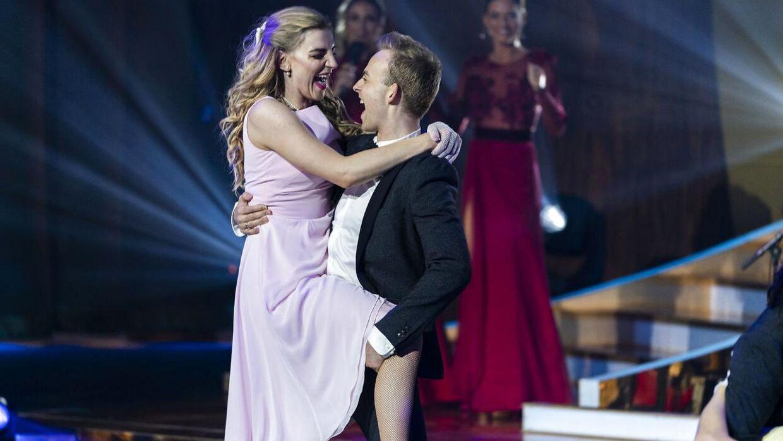 Skuespiller Molly Egelind og danser Mads Vad fik topkarakterer af dommerne.