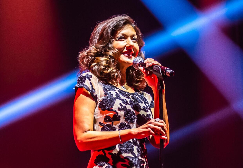 Grevinde Alexandra under sin optræden i Malmö Arena