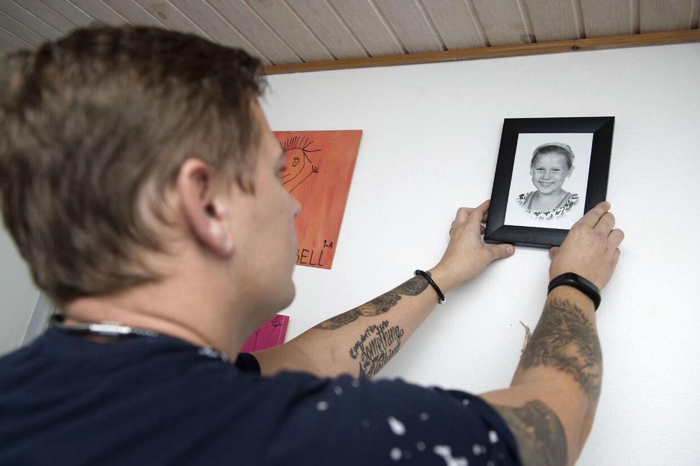 Morten Larsens liv blev knust på et øjeblik den 15. juni 2016. Han finder sin ni-årige datter med halsen skåret over. Hans ekskæreste havde bagefter forsøgt at snitte sine egne håndled. Dato: 13.11.18 Foto: Lars Horn / Baghuset