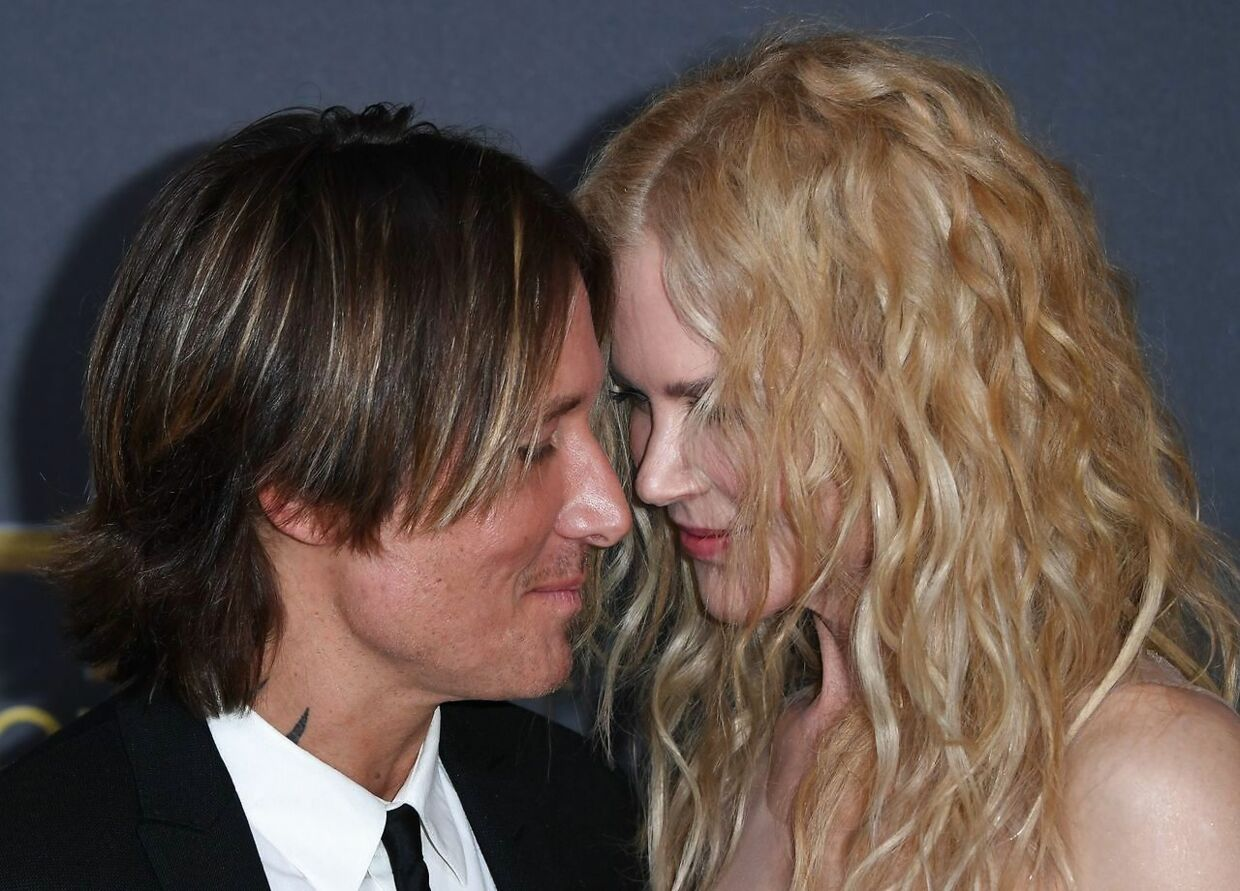 Hollywood Career Achievment Award recipient actress Nicole Kidman and husband musician Keith Urban arrive for the 22nd Annual Hollywood Film Awards at the Beverly Hilton hotel in Beverly Hills on November 4, 2018. (Photo by Mark RALSTON / AFP)