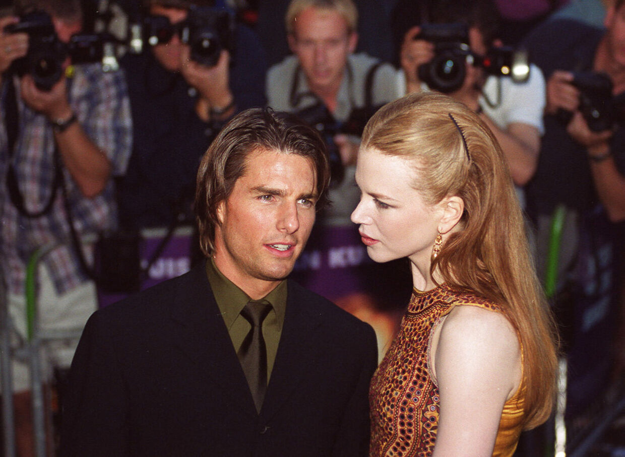 "FILES - Picture taken 03 September 1999 shows actors Tom Cruise of the US (L) and Australian Nicole Kidman arriving at Leicester Sq. for the British premier of their film ""Eyes Wide Shut"" by Stanley Kubrick. German daily newspaper Bild reported 27 July 2007 that bothHollywood superstar Tom Cruise and his ex-wife Nicole Kidman will be working on separate films in Berlin from September. AFP PHOTO SINEAD LYNCH. SINEAD LYNCH / AFP"