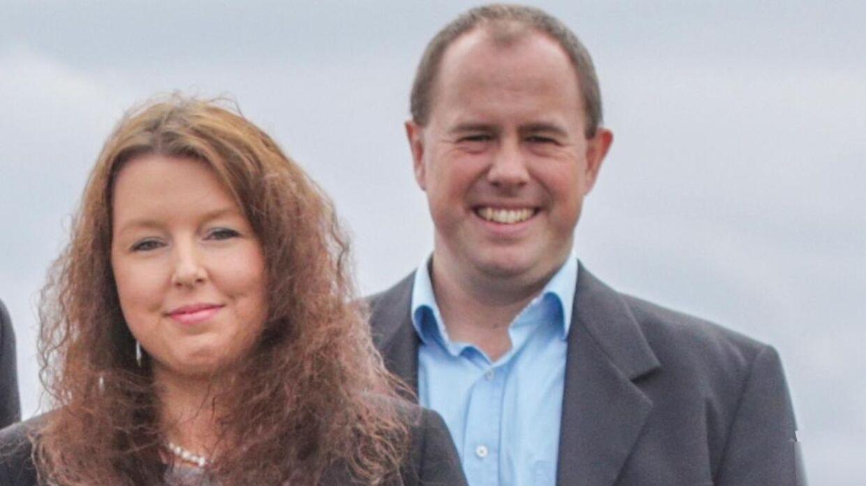 Louise Lili Riise og hendes mand. Foto: Privat.