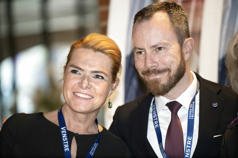Venstres Landsmøde 2018 i Herning Kongrescenter. Inger Støjberg og Jakob Ellemann-Jensen. Herning, 17. november 2018. (Foto: Jens Nørgaard Larsen/Ritzau Scanpix)