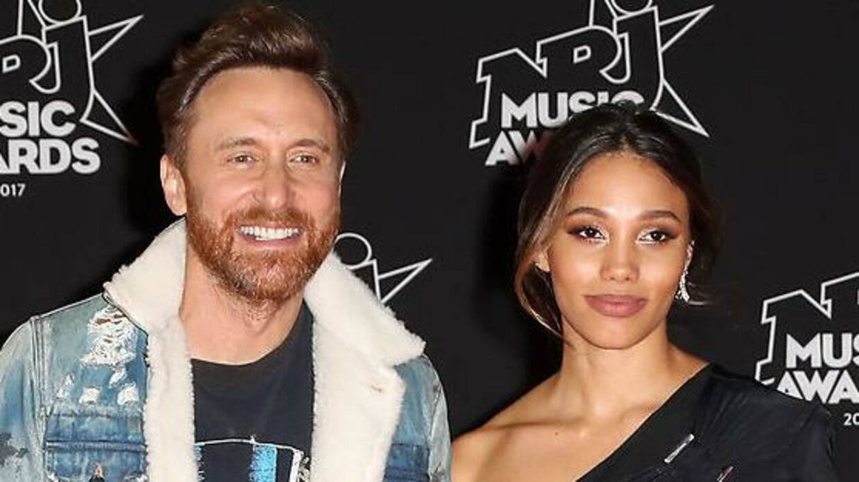Arkivfoto: David Guetta og kæresten Jessica Ledon.