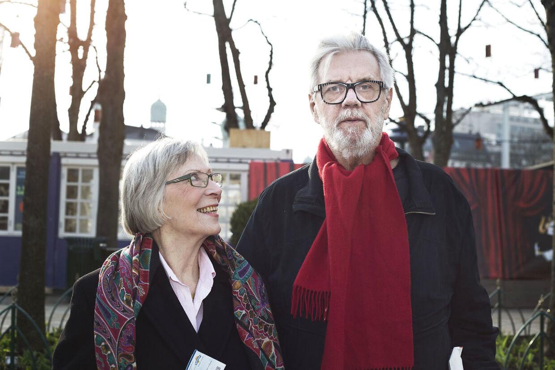 Morten Grunwald og Lily Weiding til premieren på Den Grønne Elevator i Glassalen Tivoli.