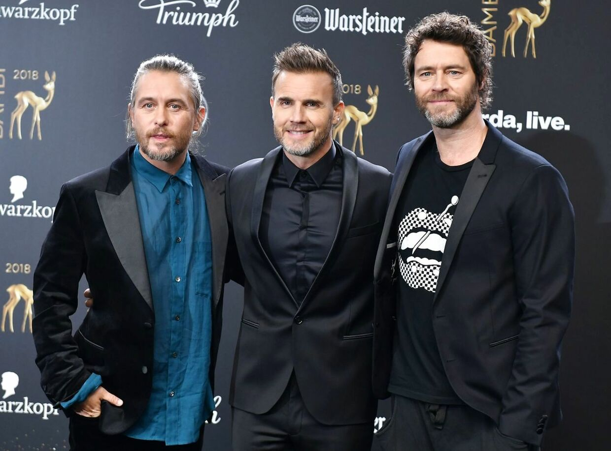 Take That består i dag af Mark Owen, Gary Barlow og Howard Donald.
