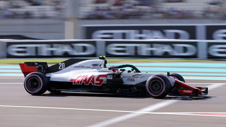 Kevin Magnussen i Abu Dhabi.