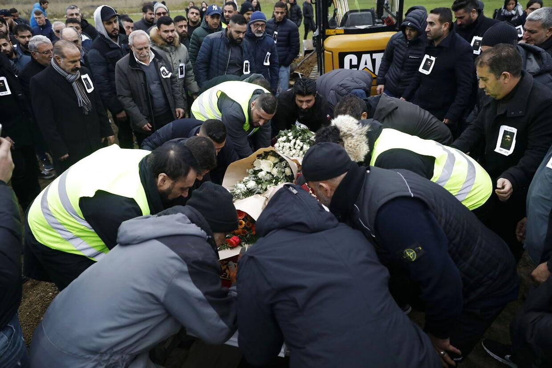 Nedim Yasar begraves på den Muslimske Gravplads på Brøndbyøstervej, lørdag den 24. november 2018.. (Foto: Nikolai Linares/Ritzau Scanpix)