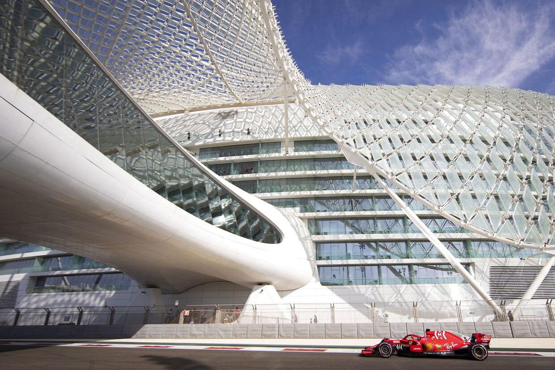 Sebastian Vettel i Abu Dhabi.