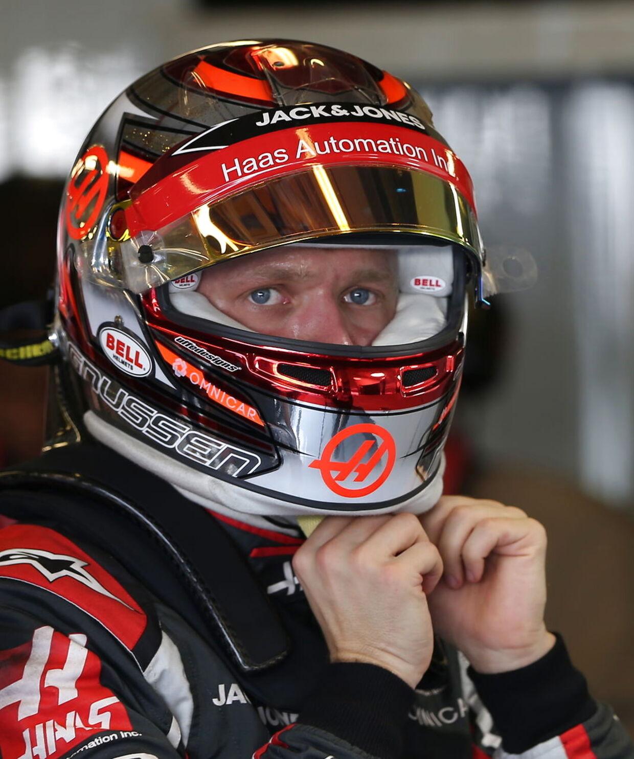 Kevin Magnussen sluttede som nummer 10 i Abu Dhabi. (EPA/ALI HAIDER)