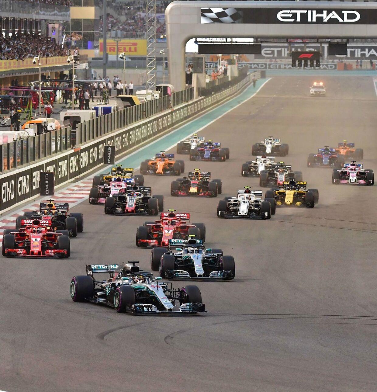 Løbet i Abu Dhabi var sæsonens sidste. (Foto: ANDREJ ISAKOVIC / AFP)