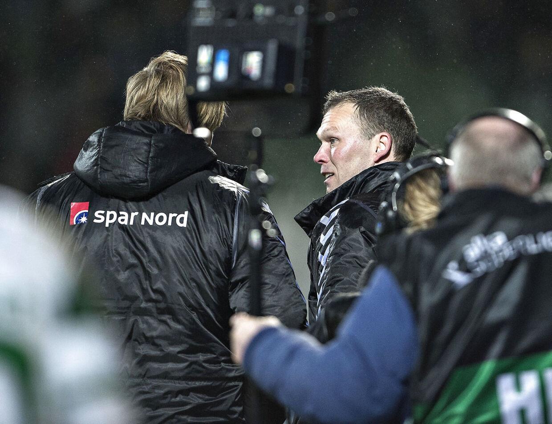 Viborg FF - Aab , Alka Superliga, Energi Viborg Arena: Aab skuffelse efter nederlaget , her Aabs sportschef Allan Gaarde og træner Morten Wieghorst (foto: Henning Bagger / Scanpix 2017)