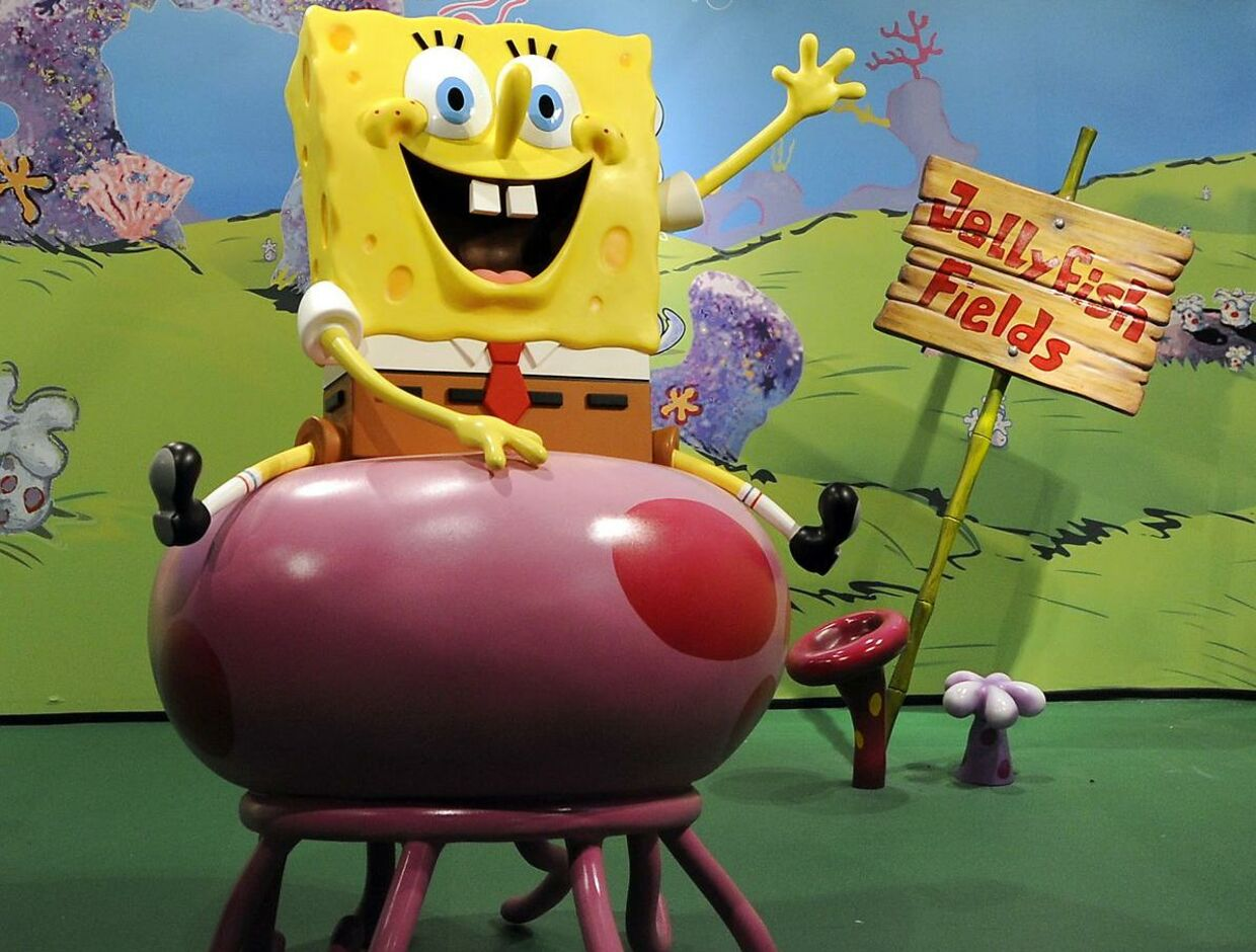 SpongeBob SquarePants, the first animated character to receive a figure made entirely of wax is unveiled at Madame Tussauds in New York July 15, 2009. Nickelodeon's SpongeBob SquarePants is celebrating its 10th anniversary. AFP PHOTO / TIMOTHY A. CLARY. TIMOTHY A. CLARY / AFP