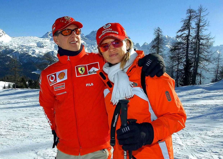 Michael Schumacher med sine kone, Corinna.