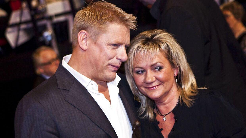 Peter Schmeichel med sin tidligere hustru Bente.