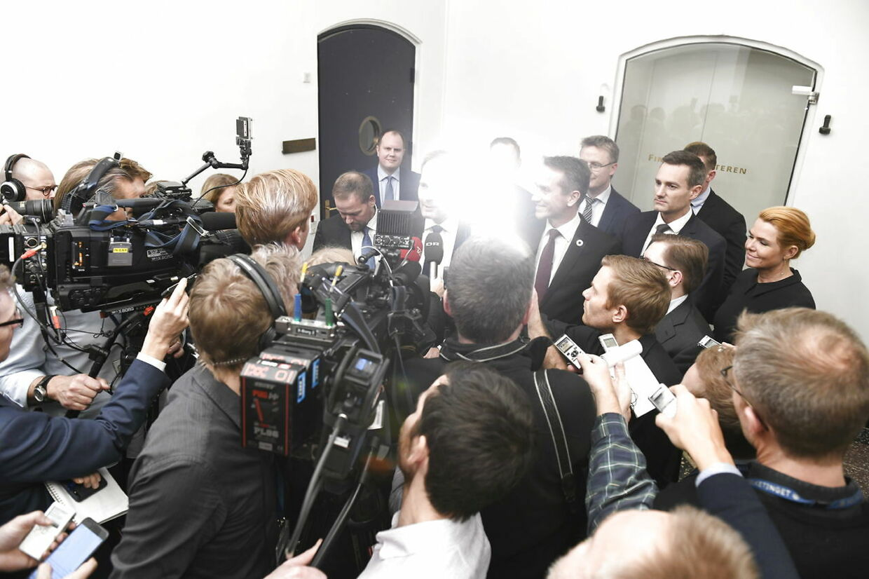 Forhandlinger om finansloven for 2019 i Finansministeriet i København fredag den 30. november 2018.. (Foto: Philip Davali/Ritzau Scanpix)