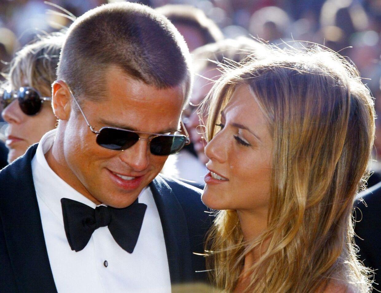 Brad Pitt og Jennifer Aniston i 2004, da de stadig dannede par.
