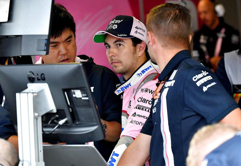 Sergio Perez og Lance Stroll kører for det nye hold i 2019. (EPA/DANIEL DAL ZENNARO)