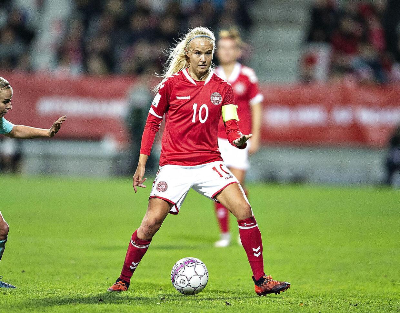 Danmarks Pernille Harder blev nummer to i afstemningen om Ballon D'Or. Kun seks point bag Ada Hegerberg. (Foto: Henning Bagger/Ritzau Scanpix)